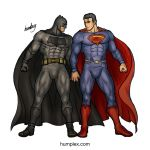 Batman and Superman Bromance (Commission) by humbuged