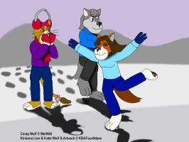 Watching Katie Barefoot Ice-Skating by KBAFourthtime