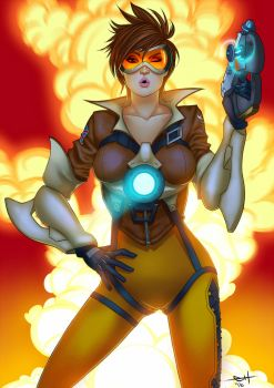 Overwatch - Tracer - Boom by eHillustrations