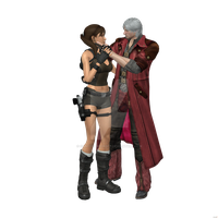 Dante X Lara Croft 04 by candycanecroft