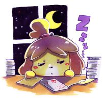 Sleeping Isabelle by LazyTurtle