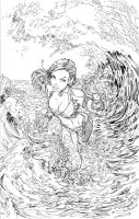Fathom Vol. 5, #1 Convention Cover inks by cehnot