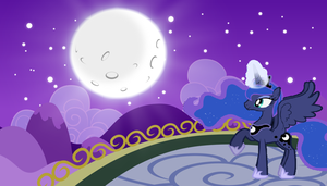 Looking at the moon and raising it {LUNA} by Original-Lunar