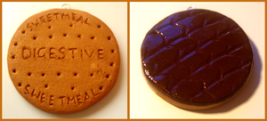 chocolate digestive charm by citruscouture