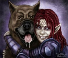 A Girl and her Mabari by wanderer1812