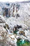Plitvice Lakes in Winter by little-spacey
