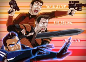 The Blaster, the Brawn, and the Biotic by Eji