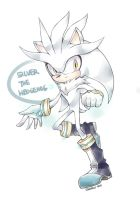 Silver the Hedgehog by shouten26