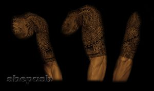 Tribal half sleeve by shepush