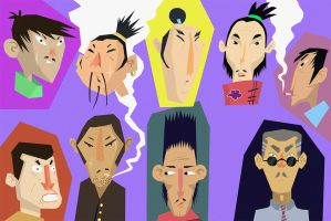 yakuza faces by Echoes83
