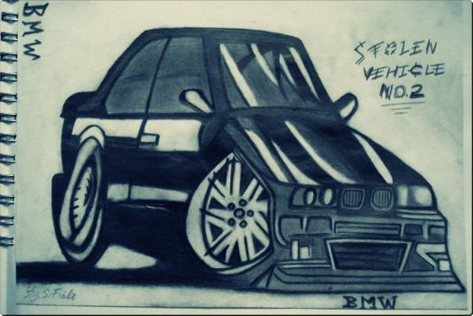 BMW Drawing by Vester01