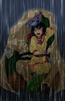Slayers - ZelAme in the Rain by piku-chan