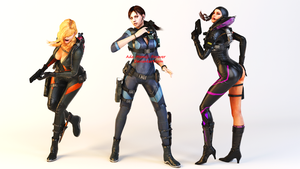 Resident Evil Revelations Girls Render by Ada-Momiji-Forever