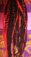 Black and Red Twist Dreadlocks by Amazon-Butterfly