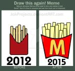 French Fries - Draw this again! Meme by JakProjects