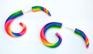 Rainbow Polymer Fake Gauges 002 by Dabstar