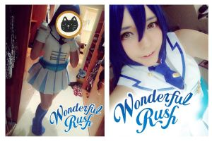 WIP: Umi Sonoda (Wonderful Rush) by chibieminachan