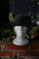 Gray and Green Fleece Hat by Jolly-Jess