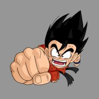Kid Goku - Dragon Fist by dbzataricommunity