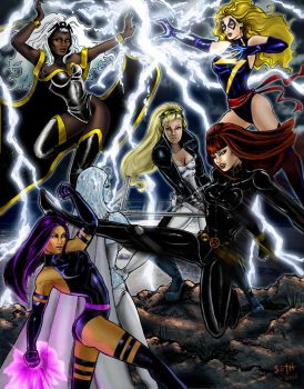 AvX girlfight by SCMartel