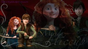 Commission: Merida and Hiccup by x12Rapunzelx