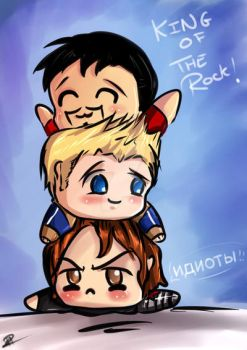 Squished Bucky by royswordsman