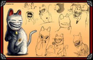 Cheshire Cat Character Sheet by haohaohayashi