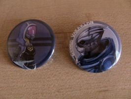 Mass Effect Buttons by OddCurio
