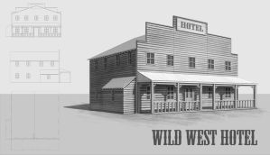 Wild West hotel by eddieshred