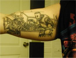 Robot Chess Tattoo by Cuson by DirtyDem