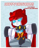 TF - Red n Inferno B-Day Card by plantman-exe