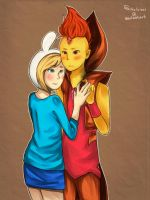 Fionna and Flame Prince by virinn