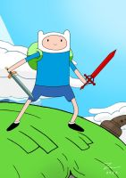 adventure time with Finn the hero by kazaret