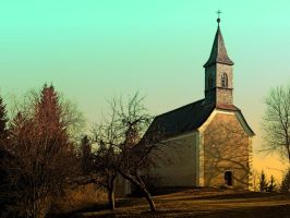 The village church of Hollerberg I by patrickjobst