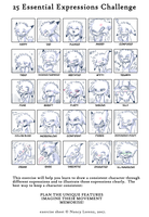 25 Expressions by Ash-Dragon-wolf