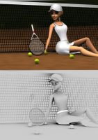 Tennis girl by bosman697