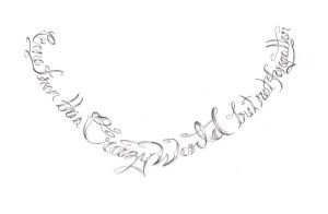Neck Tattoo Lettering by expedient-demise