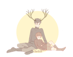 The great Prince and Bambi (Human version) by ChocoHal