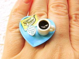 Coffee Cup Ring by souzoucreations