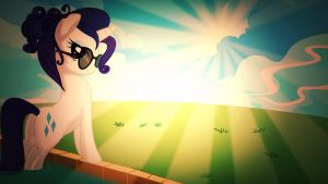 Wallpaper Rarity chill bathing by Barrfind