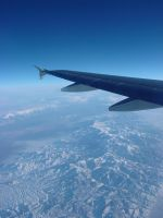 The Rockies from 35,000 feet by CKing