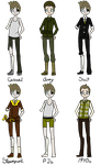 C: Craig outfits by LittleWhiteDragonlet