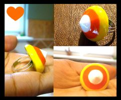 Fat Candy Corn Ring by SprinkleChick