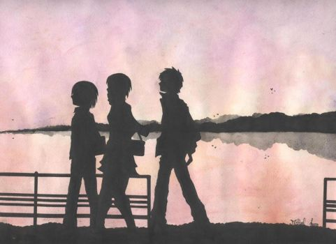 Watercolor: SNK: Reincarnation: After School by Millyel