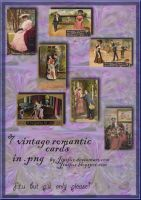 Vintage Romantic Greetings png by jinifur