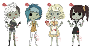 [CLOSED] Zombie Girls ~ AUCTION by hoothoo