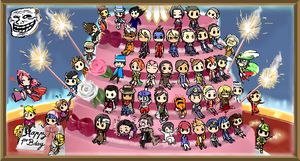 Happy 1st Bday AA icon chain by soreveil-doodles