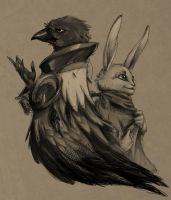 Of Rabbits and Crows by snowkatt101