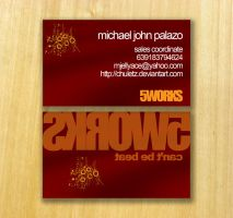 5 Works Business card by chuletz