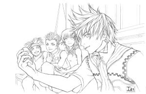 KH2- As Promised -pencils- by DarkChildx2k